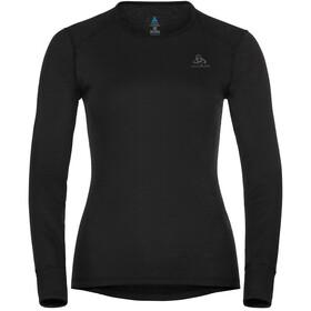 Odlo Active Warm Plus Maglietta girocollo a maniche lunghe Donna, nero
